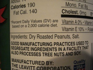 Peanut butter ingredients - Simple, no Xylitol
