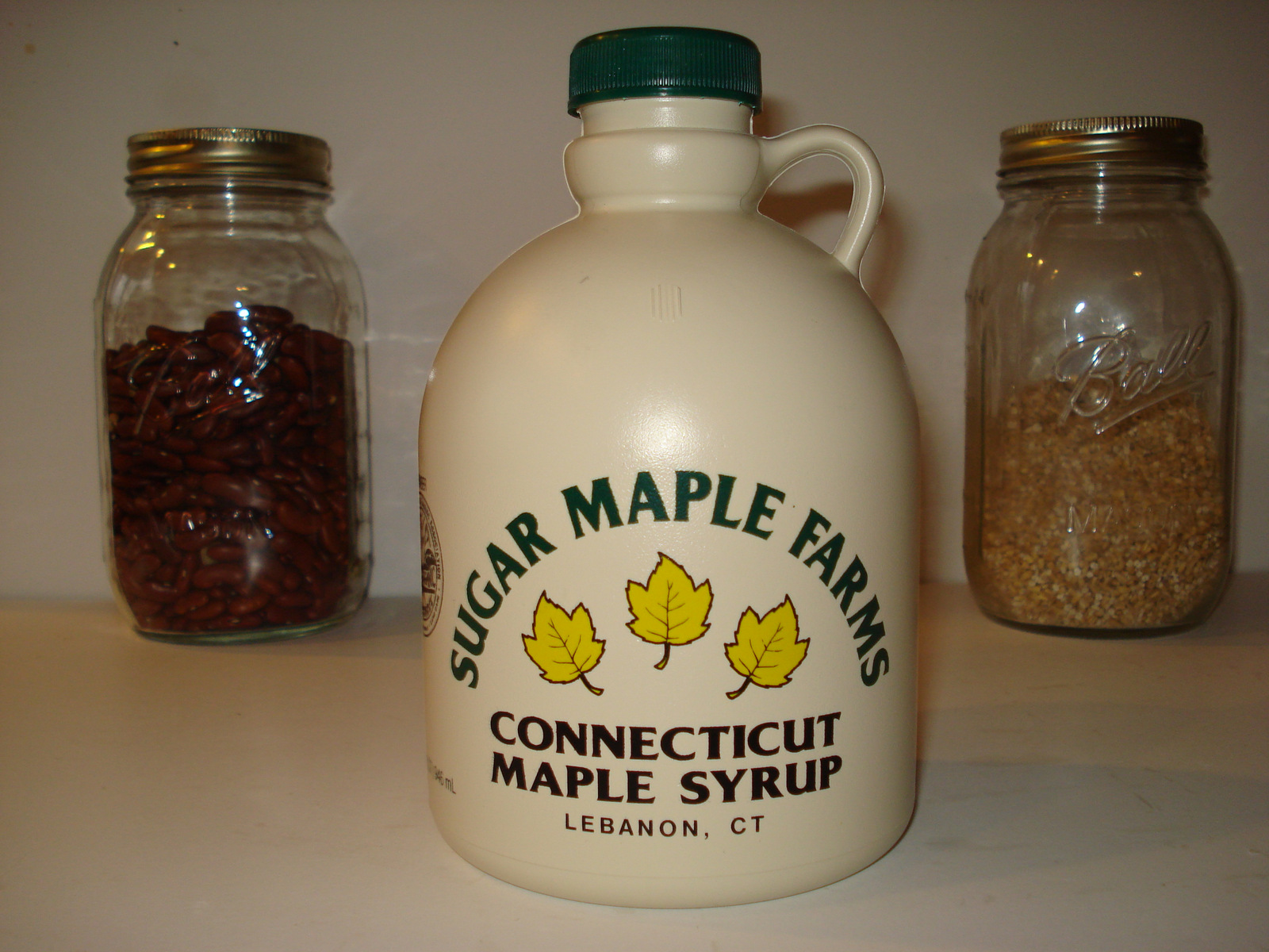 Jug of maple syrup for gift basket
