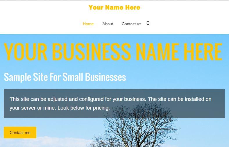 Sample site screenshot
